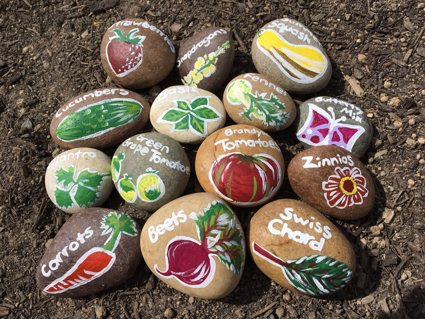 DIY-garden-markers-river-rock